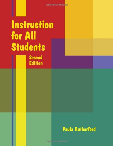 Instruction for All Students Second Edition 2nd edition cover