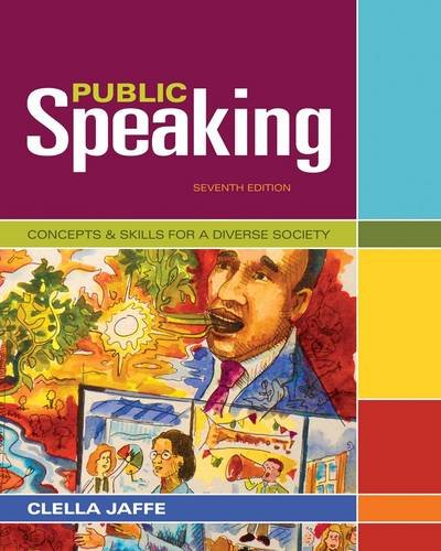 Public Speaking Concepts and Skills for a Diverse Society 7th 2013 edition cover