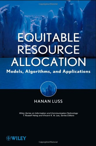 Equitable Resource Allocation Models, Algorithms and Applications  2012 9781118054680 Front Cover