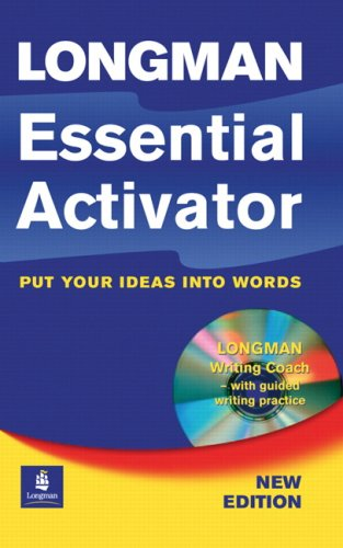 Longman Essential Activator Dictionary Paper with CD-ROM  2nd 2006 9781405815680 Front Cover