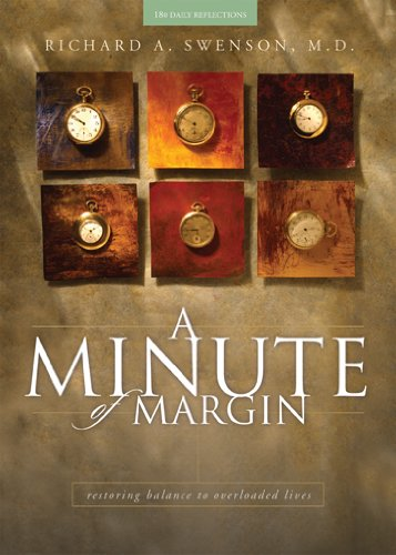 Minute of Margin Restoring Balance to Busy Lives - 180 Daily Reflections  2003 edition cover