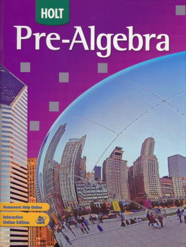 Holt Pre-Algebra   2007 (Student Manual, Study Guide, etc.) 9780030934681 Front Cover