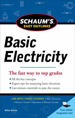 Schaums Easy Outline of Basic Electricity Revised   2012 9780071780681 Front Cover