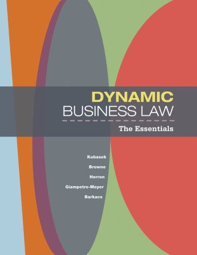 Dynamic Business Law The Essentials  2010 edition cover