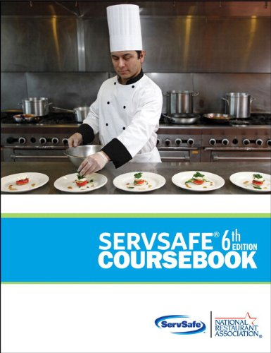 ServSafe CourseBook with Answer Sheet Plus NEW MyServSafeLab with Pearson EText  6th 2013 edition cover