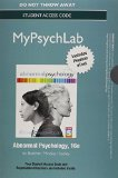 NEW MyPsychLab with Pearson EText -- Standalone Access Card -- for Abnormal Psychology  16th 2014 edition cover