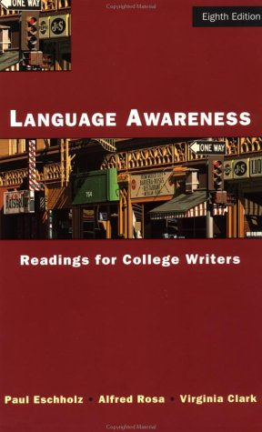 Language Awareness Readings for College Writers 8th 2000 edition cover