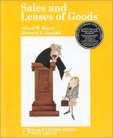 Black Letter on Sales and Leases of Goods   1993 9780314010681 Front Cover