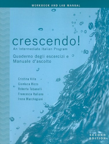 Crescendo! An Intermediate Italian Program 2nd 2007 9780470424681 Front Cover