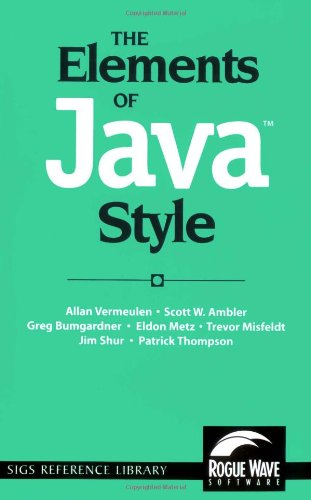Elements of Java Style   2000 edition cover