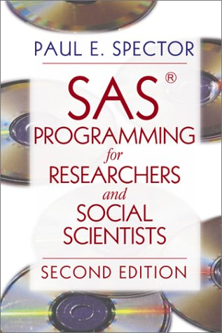 SAS Programming for Researchers and Social Scientists  2nd 2001 edition cover