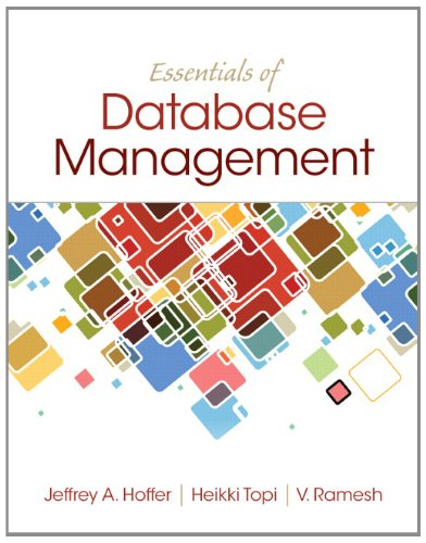 Essentials of Database Management   2014 edition cover