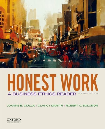 Honest Work: A Business Ethics Reader  2018 9780190497682 Front Cover