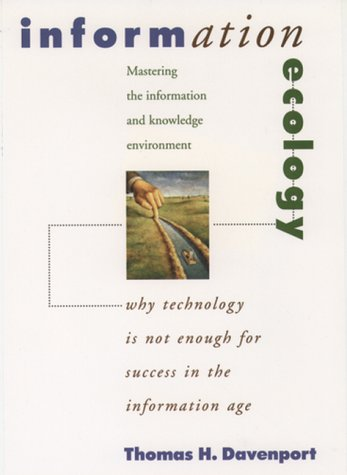 Information Ecology Mastering the Information and Knowledge Environment  1998 edition cover