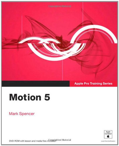Apple Pro Training Series Motion 5  2012 edition cover
