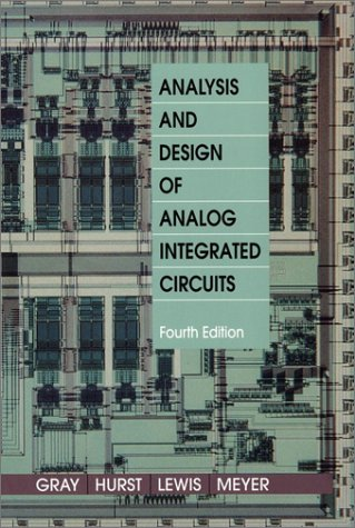 Analysis and Design of Analog Integrated Circuits  4th 2001 (Revised) edition cover