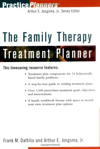 Family Therapy Treatment Planner   2000 edition cover