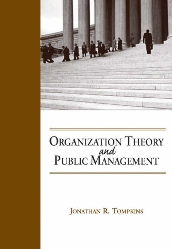 Organization Theory and Public Management   2005 edition cover