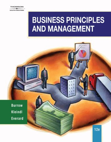 Business Principles and Management  12th 2008 (Revised) 9780538444682 Front Cover