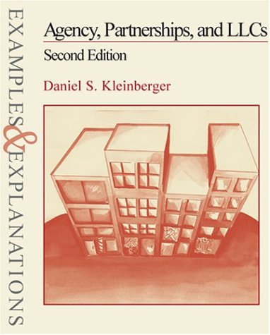 Agency, Partnership, and Llcs  2nd 2002 edition cover
