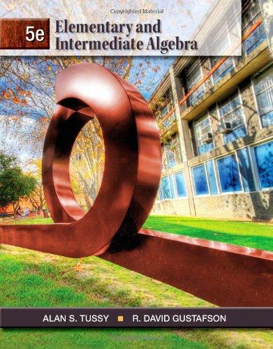 Elementary and Intermediate Algebra  5th 2013 edition cover