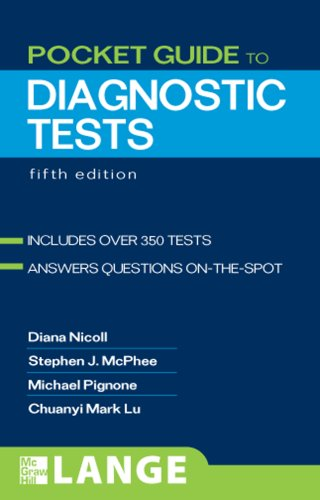 Pocket Guide to Diagnostic Tests  5th 2008 edition cover