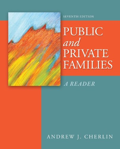 Public and Private Families A Reader 7th 2013 edition cover
