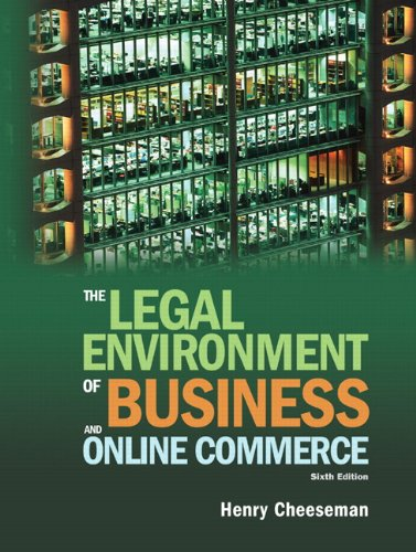 Legal Environment of Business and Online Commerce  6th 2010 edition cover