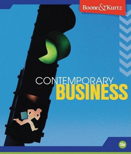 Contemporary Business  13th 2010 edition cover