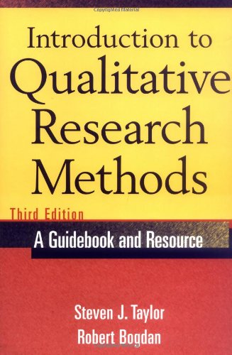 Introduction to Qualitative Research Methods  3rd 1998 (Revised) edition cover