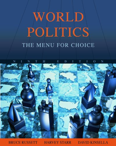 World Politics The Menu for Choice 9th 2010 (Revised) edition cover