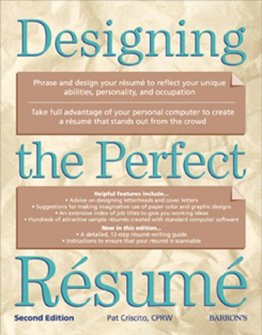 Designing the Perfect Resume  2nd 2000 9780764112683 Front Cover