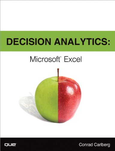 Decision Analytics Microsoft Excel  2014 edition cover