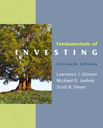 Fundamentals of Investing  11th 2011 9780132479684 Front Cover
