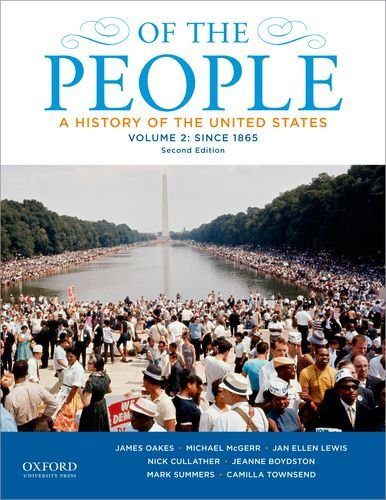 Of the People A History of the United States - Since 1865 2nd 2013 edition cover