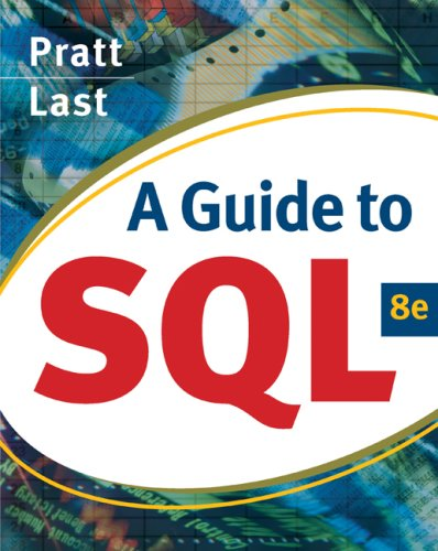 Guide to SQL  8th 2009 edition cover