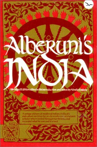 Alberunis India   1971 (Abridged) edition cover