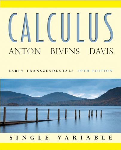 Calculus Early Transcendentals Single Variable  10th 2012 edition cover