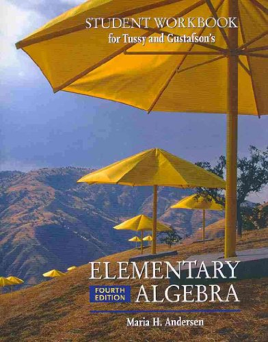 Student Workbook-Elementary Algebra  4th 2009 9780495554684 Front Cover