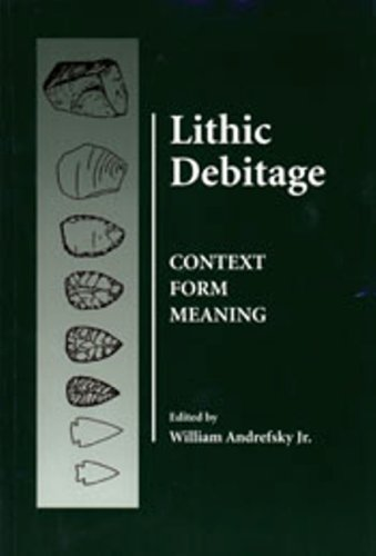 Lithic Debitage Context form Meaning N/A edition cover