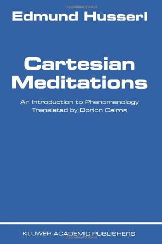 Cartesian Meditations An Introduction to Phenomenology  1999 edition cover