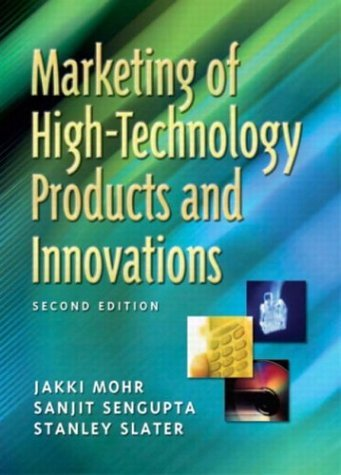 Marketing of High-Technology Products and Innovations  2nd 2005 (Revised) edition cover
