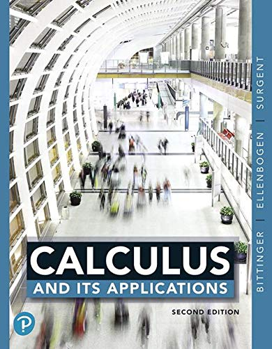 Calculus and Its Applications:   2019 9780135091685 Front Cover