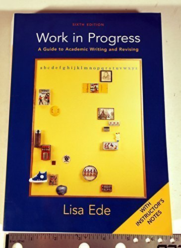 WORK IN PROGRESS >INSTRS.ED< 6th 2004 9780312409685 Front Cover