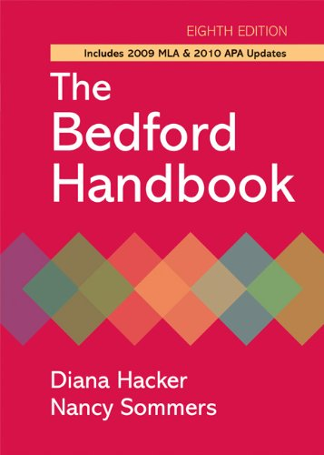 Bedford Handbook with 2009 MLA and 2010 APA Updates  8th 2010 edition cover