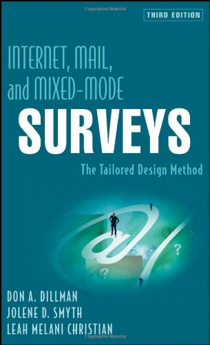 Internet, Mail, and Mixed-Mode Surveys The Tailored Design Method 3rd 2009 edition cover