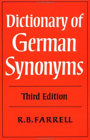 Dictionary of German Synonyms  3rd 1977 (Revised) 9780521290685 Front Cover
