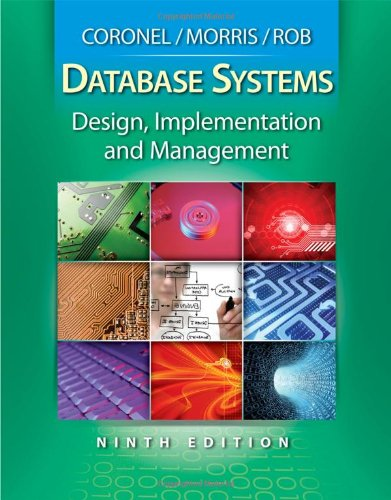 Database Systems Design, Implementation, and Management 9th 2010 edition cover