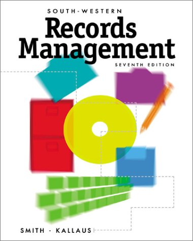 Records Management Projects: 7th 2002 edition cover