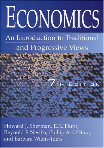 Economics An Introduction to Tradional and Progressive Views 7th 2008 (Revised) edition cover